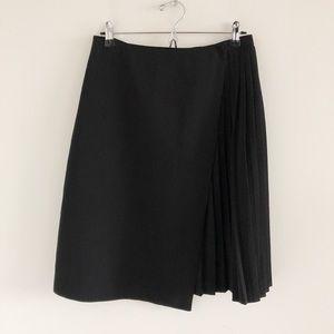Topshop Wrap Black Pleat Skirt US Size 6